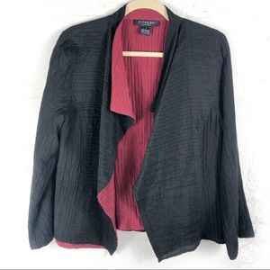 Citron Jacket Silk Cotton Crinkle Open Front